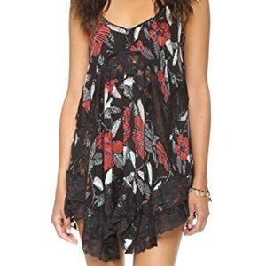 Free People She Swings floral Slip Dress